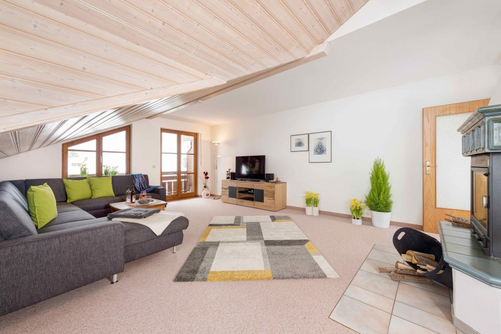Ferienwohnung Alpenzauber Wohnzimmer